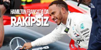F1 Fransa GP'sinde Pole Pozisyon Lewis Hamilton'ın