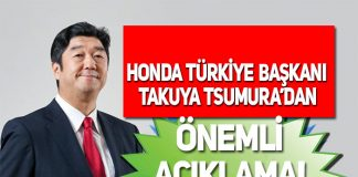 Honda Türkiye Başkanı Takuya Tsumura