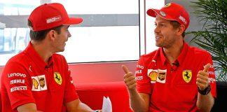 Almanya GP'sinde Ferrari pilotlarının yüzü güldü