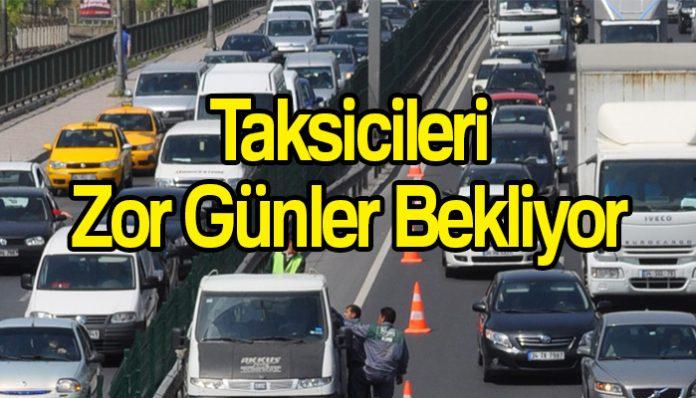 Taksiciler zorda