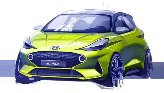 Hyundai Yeni i10'un İlk Çizimlerini Paylaştı