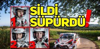 Toyota Almanya Rallisi'nde sildi süpürdü!
