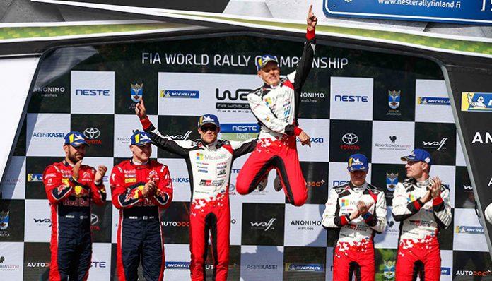 Toyota Gazzo Racing üst üste üçüncü kez Finlandiya Rallisi'ni kazandı