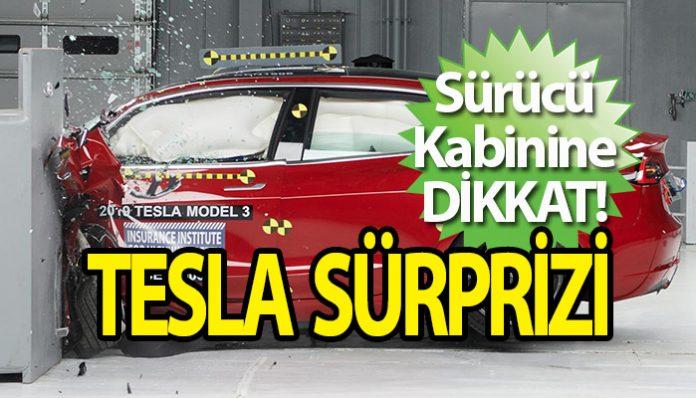 Tesla Model 3, çarpma testinde sürpriz yaptı!