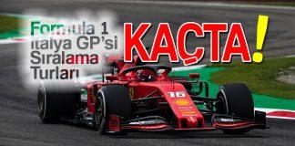 Formula 1 İtalya Grand Prix'si sıralama turları saat kaçta?