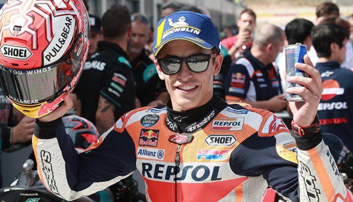 Honda pilotu Marc Marquez, Aragon GP'sin galibi