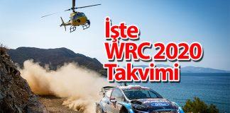 WRC Dünya Ralli Şampiyonası 2020 Takvimi