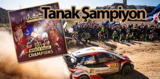 WRC'de Toyota pilotu Tanak 2019 Dünya Ralli Şampiyonu oldu