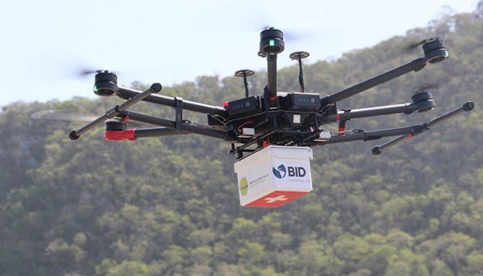 Dronlar, virüs testi, tibbi malzeme ve ilaç teslimatında kullanılıyor
