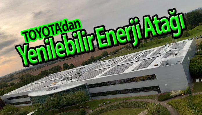 Toyota Avrupa merkez binasına rüzgar türbini ve güneş panelleri