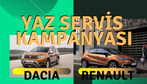 Renault ve Dacia'dan yaz servis kampanyası