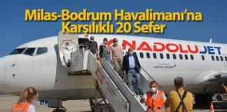 Milas-Bodrum Havalimanı'nda uçuşlar hızlı başladı