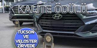Hyundai Tucson ve Veloster'a Kalite Ödülü
