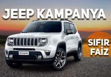Jeep Compass ve Jeep Renegade için sıfır faiz fırsatı sürüyor!
