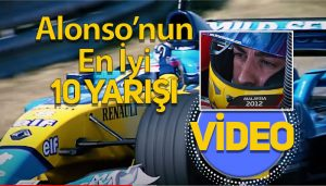 Fernando Alonso'nun en iyi 10 yarış videosu