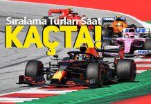 F1 Styrian GP Sıralama Turları saat kaçta