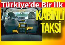 Türkiye'de ilk 'Kabinli Taksi'