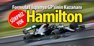 F1 İspanya GP'sinin galibi Lewis Hamilton koptu gidiyor!