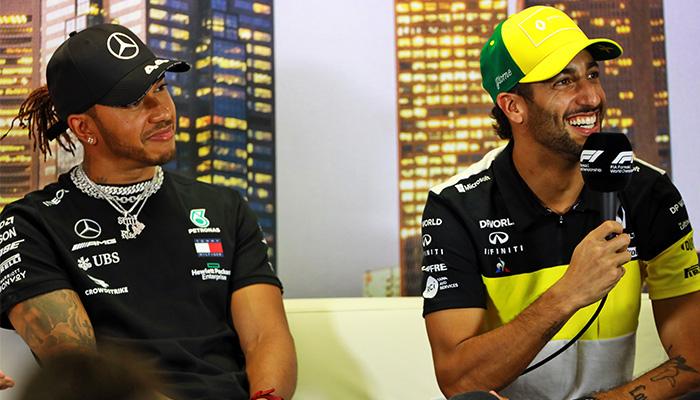 Lewis Hamilton-Daniel Ricciardo