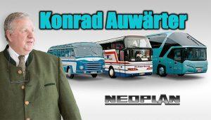 dünyanın ilk çift katlı yolcu otobüsü NEOPLAN Skyliner'ı geliştiren Konrad Auwärter'dir