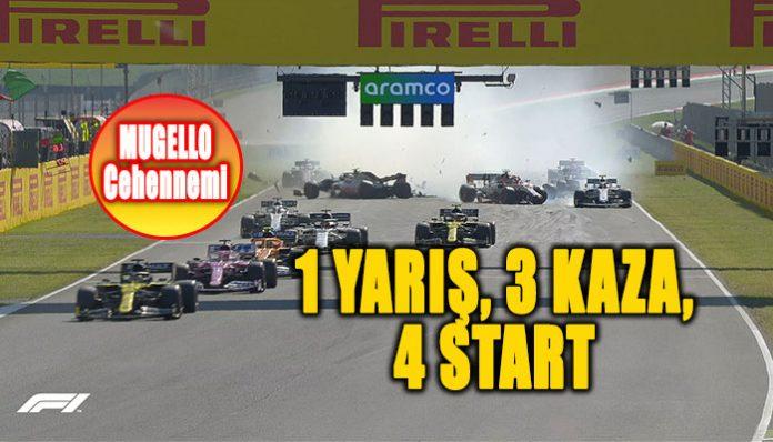 Formula 1 Tuscan GP'sinde herşey oldu: 1 yarış, 3 kaza, 4 start!