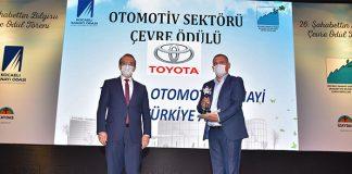 Toyota Otomotiv Sanayi Türkiye'ye çevre ödülü