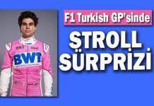 F1 Türkiye GP'sinde ön sıra Racing Point pilotu Stroll'un!