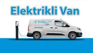 Tamamen elektrikli hafif ticari araç