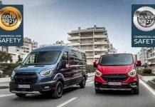 Euro NCAP aktif güvenlik ödülü Ford Transit ve Transit Custom'a
