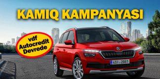 SKODA KAMIQ için 36 ay vadeli kampanya