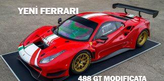 Ferrari 488 GT Modificata'nın lastikleri İzmit'te üretiliyor!
