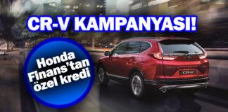 Honda'dan CR-V modeli için Nisan ayına özel kredi kampanyası