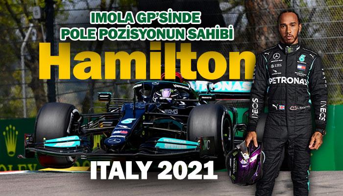 İmola GP'si Lewis Hamilton pole pozisyon