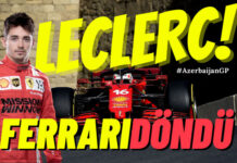 Formula 1 Azerbaycan GP'sinde Ferrari LECLERC ile kendine geldi!