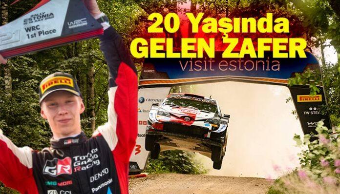 Toyota'nın genç pilotu Kalle Rovanperä WRC'de rekor kırdı!