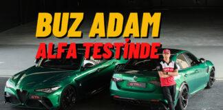 Kimi Raikkonen Alfa Romeo Giulia GT'nın direksiyonunda!
