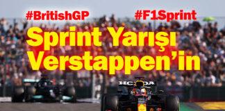 F1 Büyük Britanya GP'sinde pole pozisyon Verstappen'in