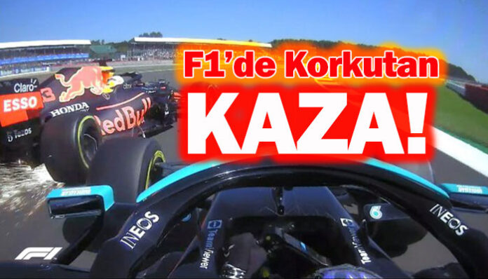 F1 Büyük Britanya GP'sinde Max Verstappen kazası korkuttu!