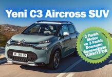 Yeni C3 Aircross SUV, lansman fiyatıyla Türkiye'de satışta!