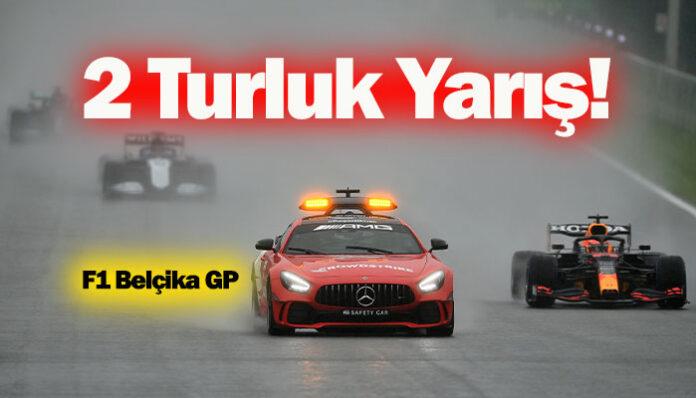 Formula 1 Belçika GP'sine yağmur izin vermedi!