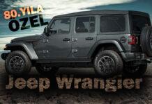 """Jeep Wrangler'ın """"80'inci Yıl"""" özel seri versiyonu"""