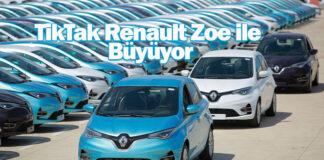 Renault Mais ile TikTak'ın 400 adet ZOE anlaşması