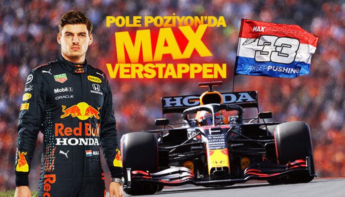 F1 Hollanda GP'sinde pole pozisyon Hollandalı Verstappen'in