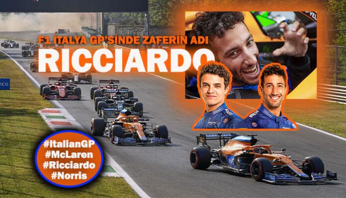 F1 İtalya GP'sinde McLaren, Ricciardo ve Norris ile duble yaptı!