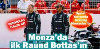 Valtteri Bottas Monza'da en hızlı zamana imza attı!
