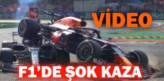 Hamilton ve Verstappen Kazası VİDEOSU!