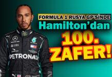 F1 Rusya GP'sinde Hamilton'a 100. zaferi yağmur getirdi!