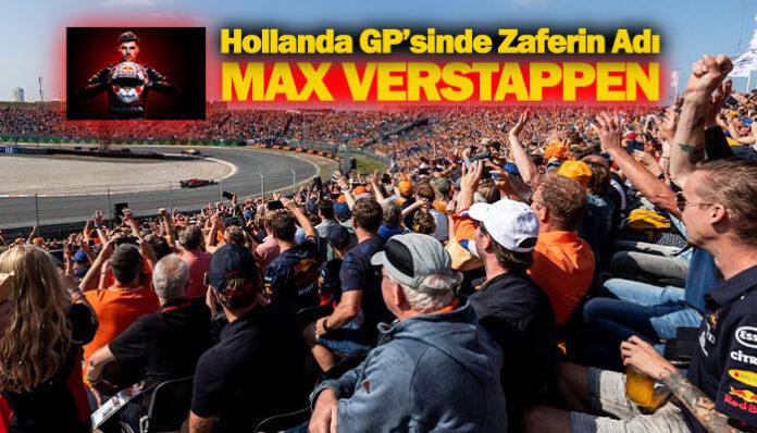 F1 Hollanda GP'sini Hollandalı Max Verstappen kazandı