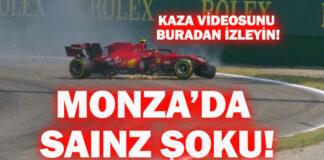 Ferrari pilotu Carlos Sainz'den 4 yarışta 3 kaza!
