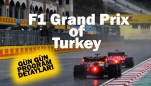 Formula 1 Türkiye GP'sinin programı belli oldu